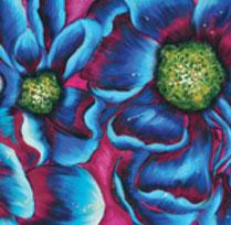 Fusion de fleurs à couleurs