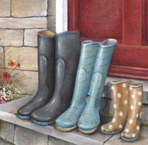 Les bottes de pluie